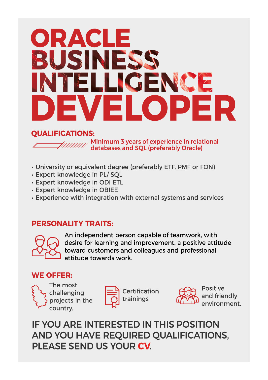 Oracle BI developer | Saga - New Frontier Group